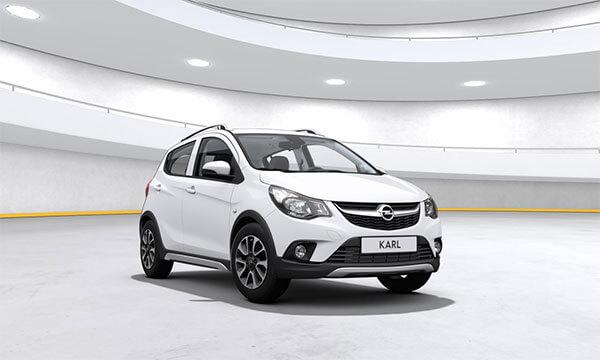 Lej en Opel Karl Rocks hos UGO. Kun 2.799,- inkl. grøn ejerafgift og forsikring.