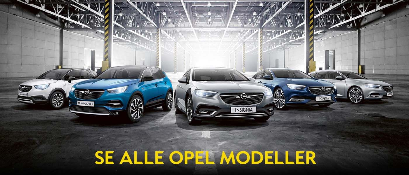 Se alle Opel modeller