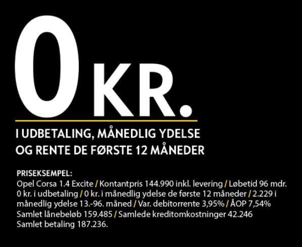 Afdragsfrit Billån Kun Hos Opel Uggerhøj
