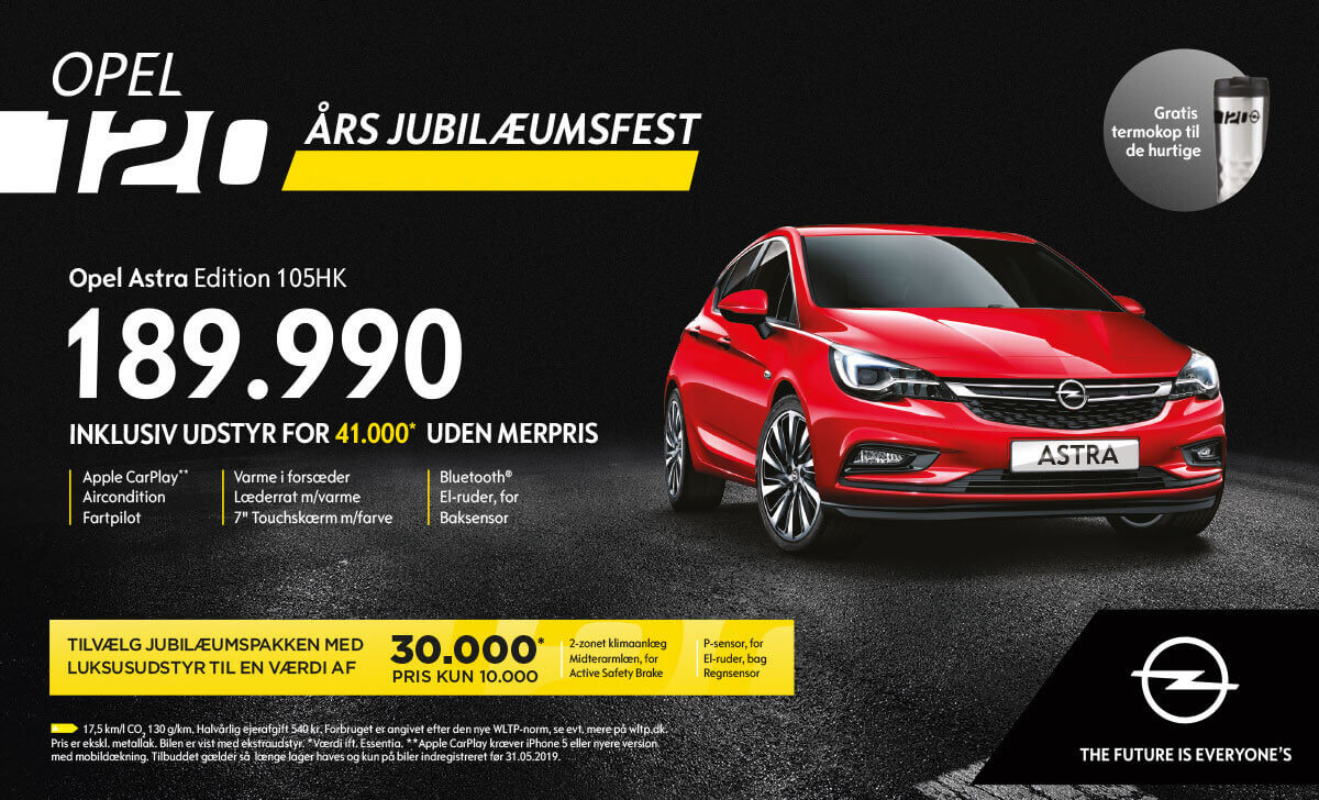 Opel Astra kampagne