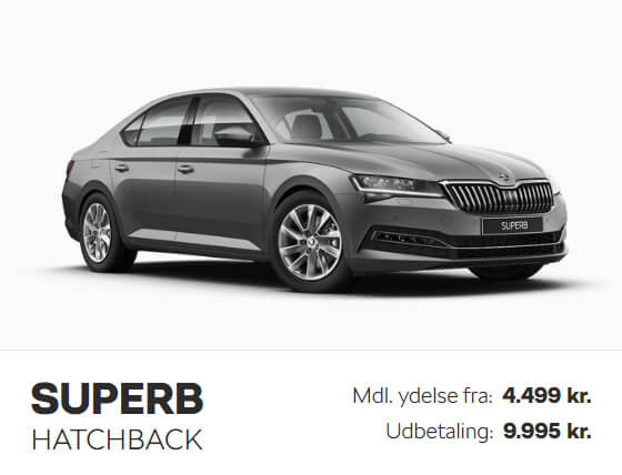 Uggerhøj Skoda Superb privatleasing